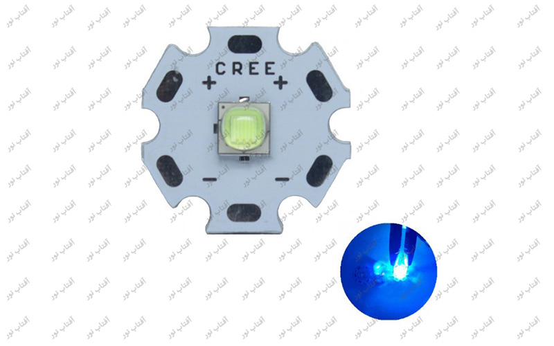 ال ای دی 10 وات CREE آبی