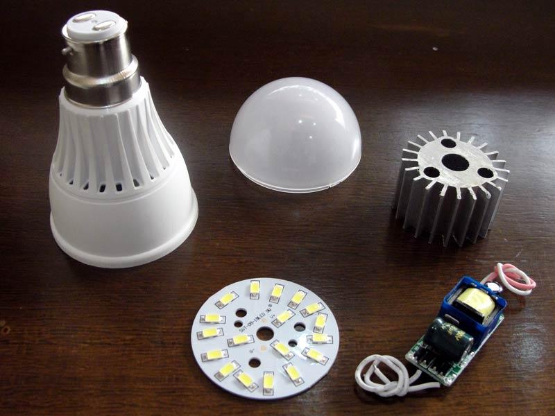 آموزش تعمیر لامپ های ال ای دی LED